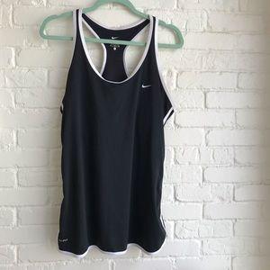 Nike athletic tank top black & white X Large